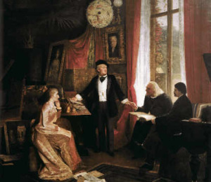 Richard Wagner at his home in Bayreuth